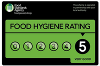 Barbecue, steaks, burgers, gourmet salads. BBQ caterer Berkshire. Wildfire Catering 5 hygiene rating. Badge 2.